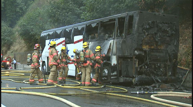 Fire destroys football team bus (3)