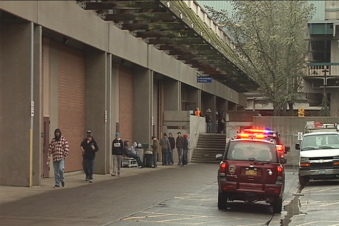 Fire forces evacuation of LCC building