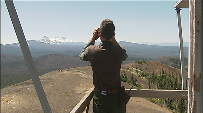 Fire lookout in the Oregon Cascades July 2013