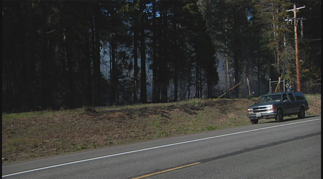 Fire near McKenzie Bridge sparked by downed powerline  01