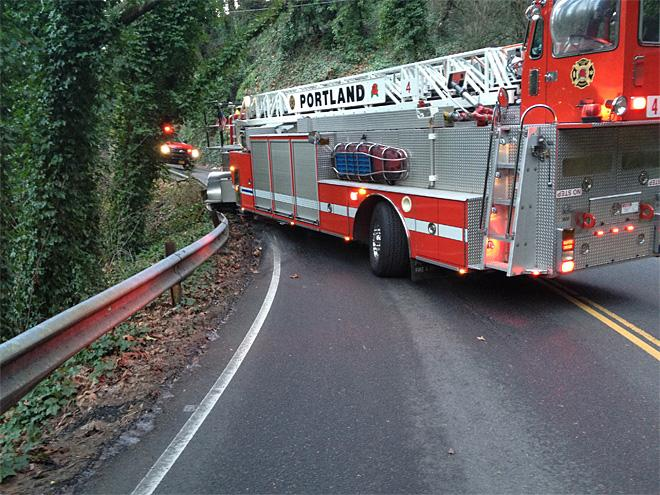 Fire truck crash near OHSU (3)