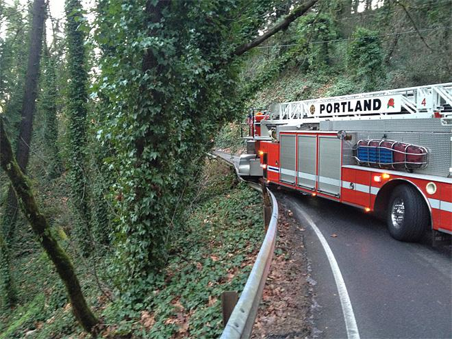 Fire truck crash near OHSU (4)