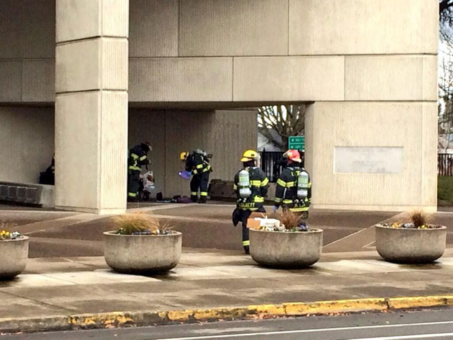 HazMat response to claim of 'neurotoxins' downtown