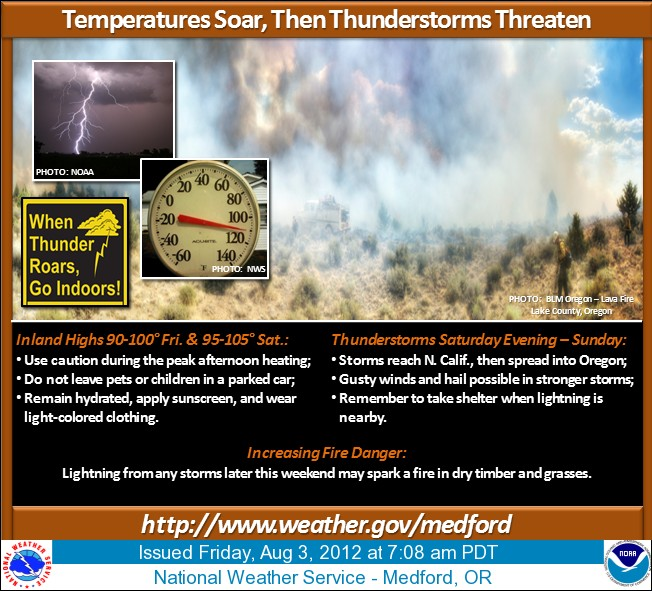 Thunderstorms in forecast bring threat of new wildfires