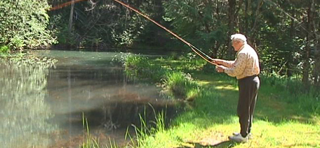 World War II vet returns to battlefield, this time to fly fish