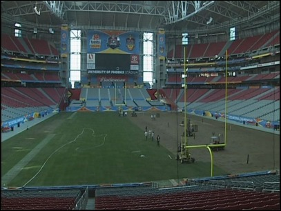 New turf being laid at BCS title game site