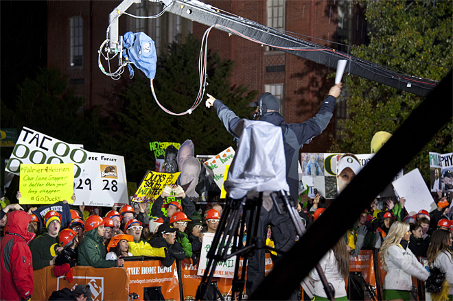 ESPN's College GameDay visits the UO campus (Photo by Tristan Fortsch/KVAL.com Staff)