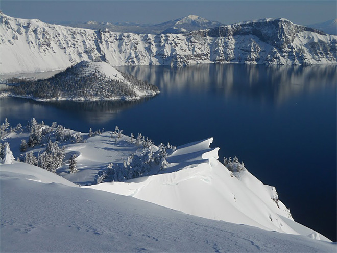 Snowshoe hiker missing at Crater Lake