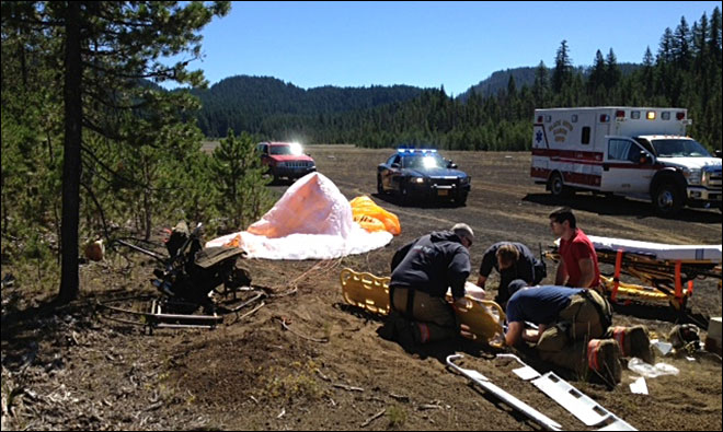 Springfield man seriously injured in paraglider crash in Central Oregon