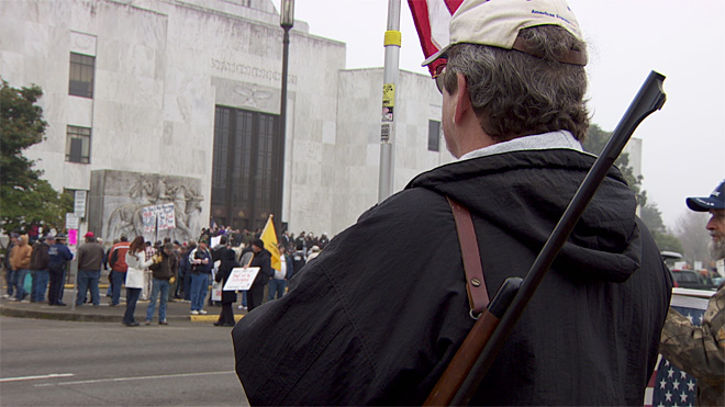 Protesters gather for pro-gun rally in Salem