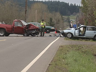 Head-on crash kills 1, injures 2