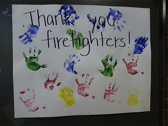 High Park fire thank you from kids in Colorado