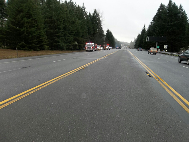 Highway 26 crash west of Sandy