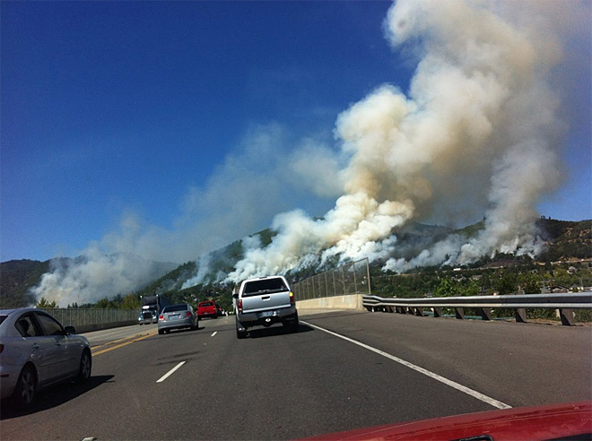 Crews in 'mop-up mode' for fire along I-5 near Grants Pass