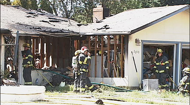 House fire on Delta Road in north Eugene  02