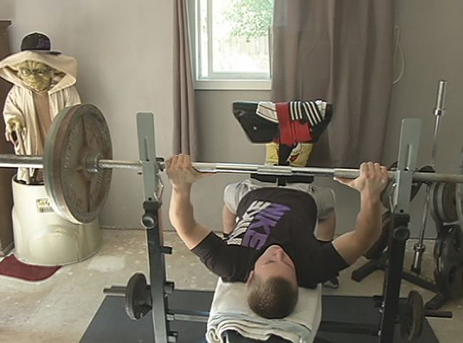 What do you bench press? 'A new World Record'