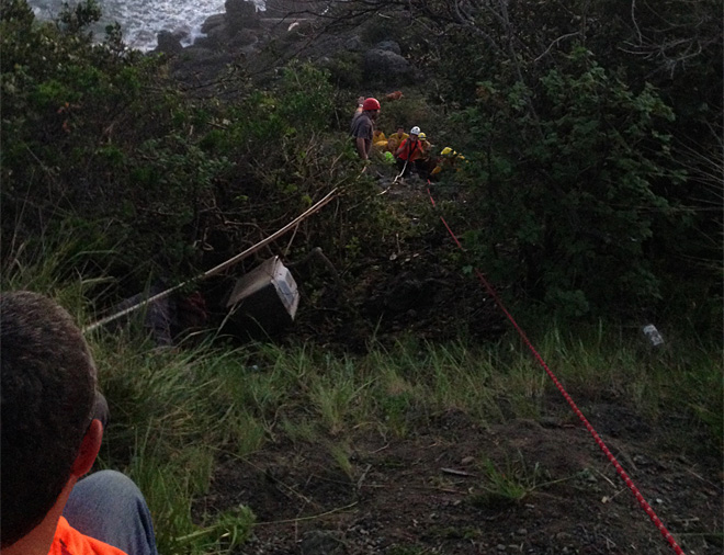 Sheriff: Man & dog rescued after fall from cliff