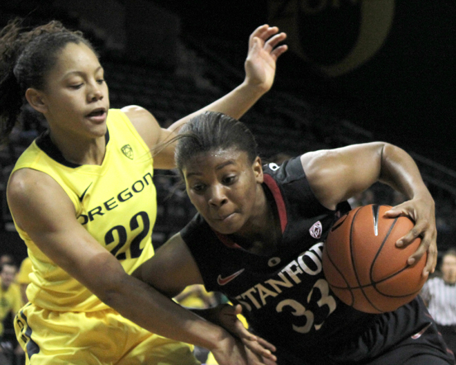 UO Women's Basketball vs. Stanford Cardinals - Petra Chung Oregon News Lab