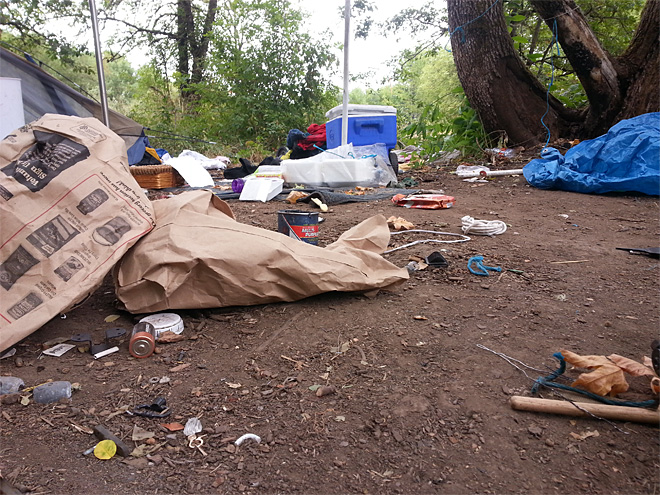 Illegal camp cleanup August 1 (2)