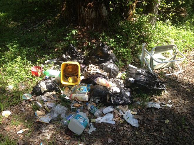Illegal camping in National Forests