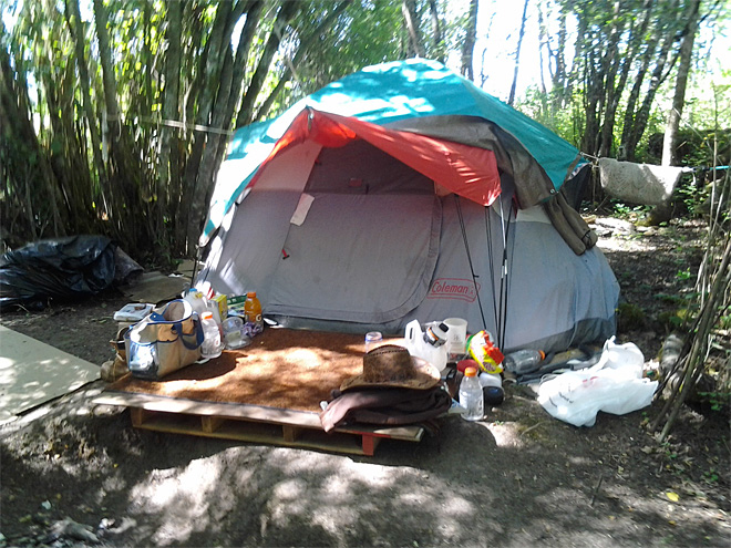Illegal camping on city land July 2013 (1)