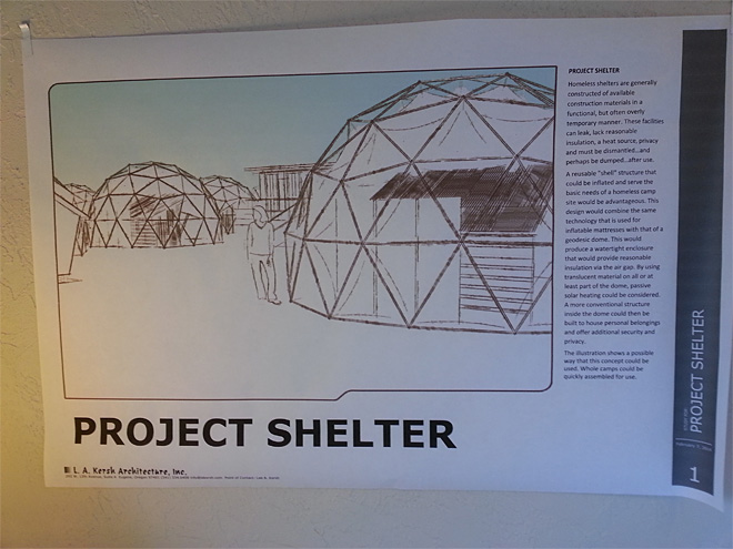 Inflatable homeless shelter