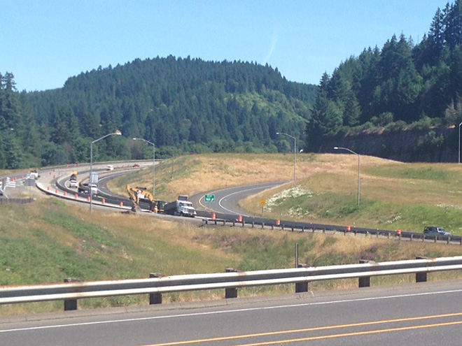 Expect delays on I-5 near Drain and Hwy 38
