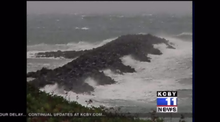 Storm watchers flock to Oregon Coast