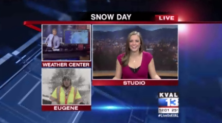 Video: KVAL News at Noon Snow Day coverage