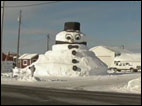 Frosty the snowman gets supersized