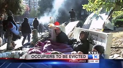 Occupy Eugene reacts as eviction notice served to OCCUPY PORTLAND protestors