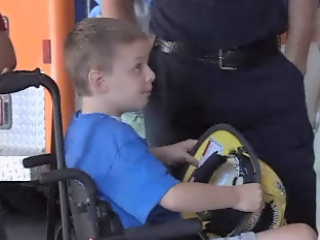 Make-A-Wish: 8 year old boy's dream comes true