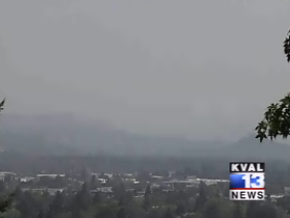 Smoke hangs over Willamette Valley