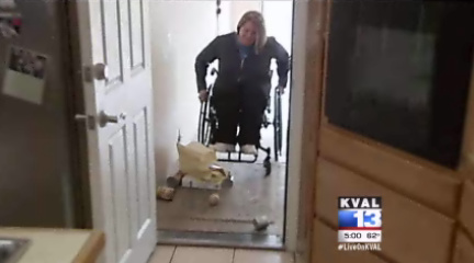 Woman in wheelchair says bag ban robs her of independence