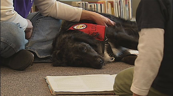 Kids read to dogs at the Fern Ridge Library (3)