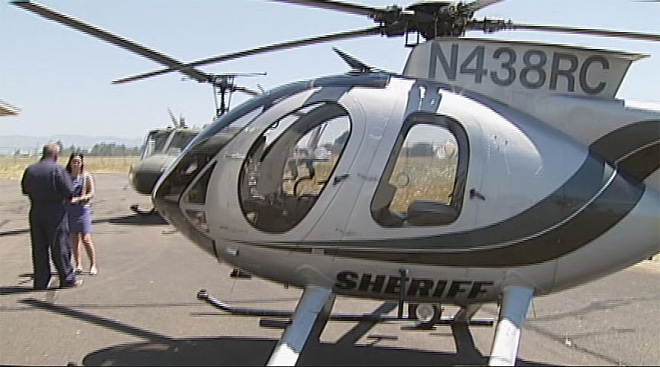 LCC students take on sheriff's helicopter