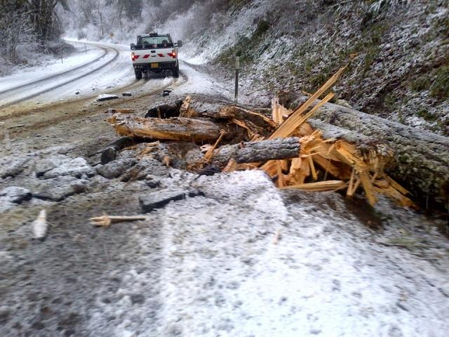 Landslide blocks Oregon Highway 126 (1)