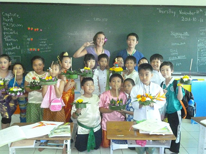Liberty Jefferson with her students