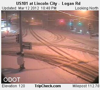 Lincoln City TripCam snow March 12