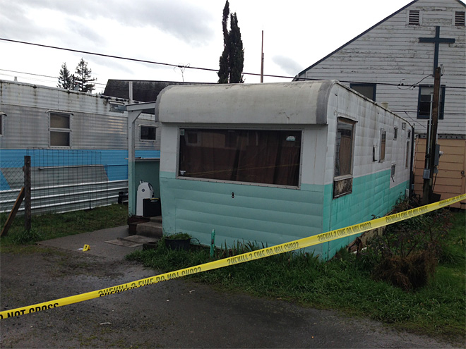 Police found a 30-year-old Winston man shot in a trailer early