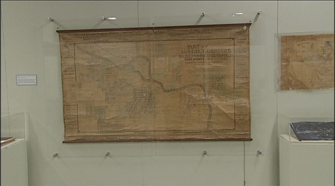 Map exhibit at historical society