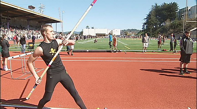 Multi-sport Marshfield athlete finds success in pole vault