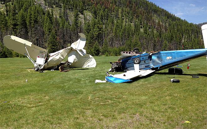 Oregon pilot survives mid-air collision