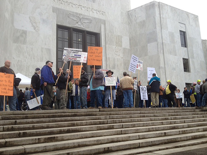 Miners protest at the Oregon Capitol (4)