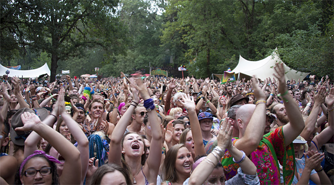 Near sell-out crowds at the 45th Oregon Country Fair