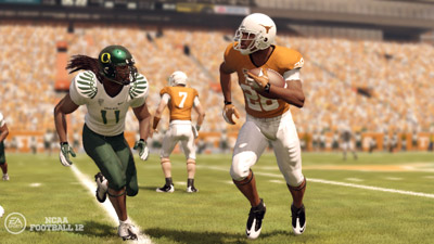 Oregon Ducks in NCAA Football 12 from EA Sports