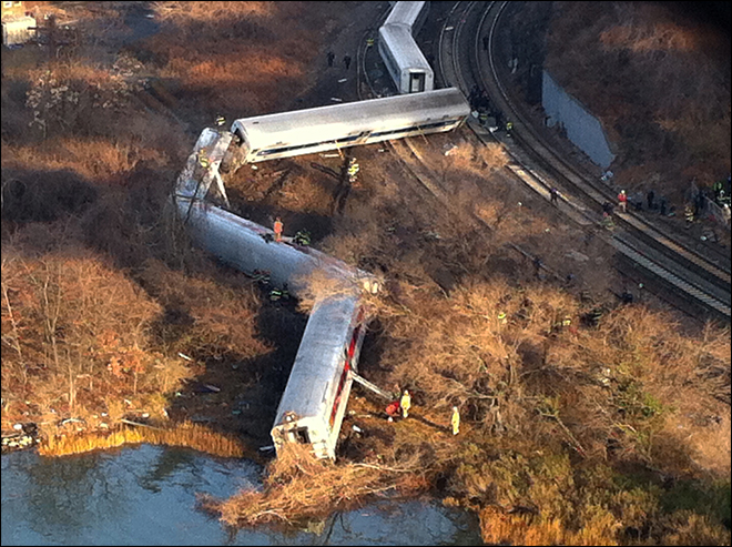 NTSB: Train going 82 mph at curve before wreck