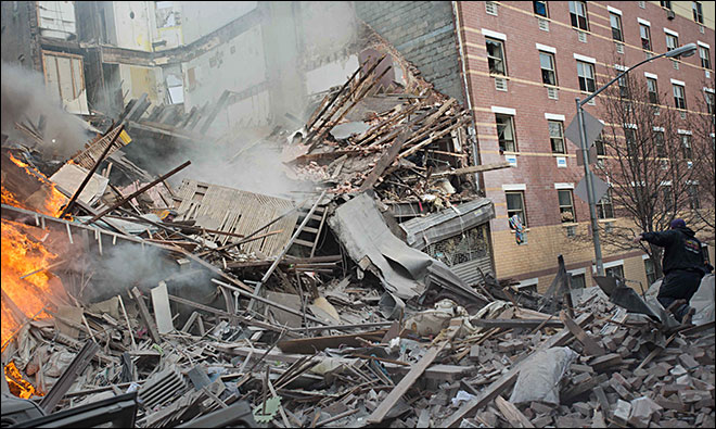 Gas blast destroys 2 NY buildings; 4 people dead