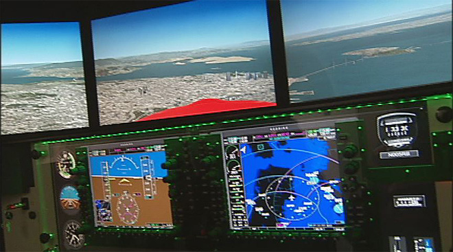 New flight simulator at Creswell Airport (1)
