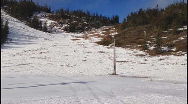 No snow on nearby ski areas January 2014